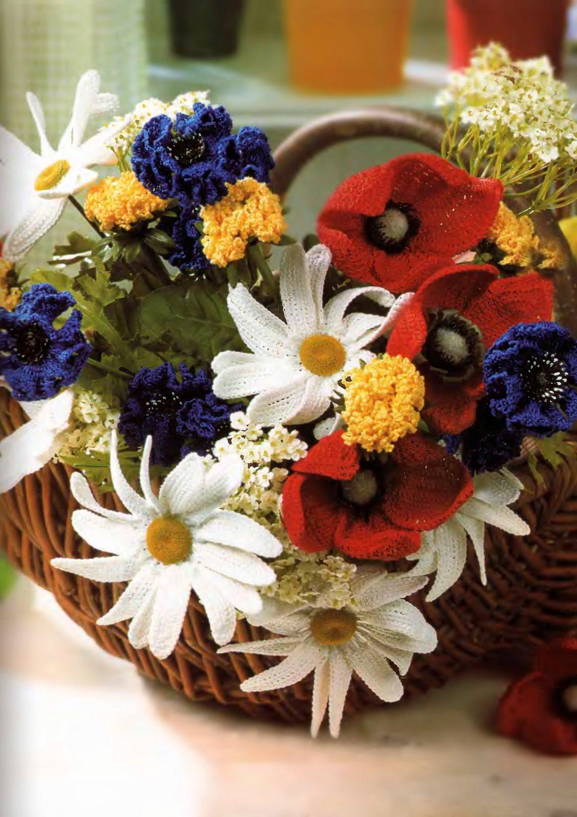 Полевые цветы крючком фото